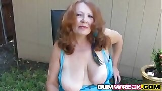 Hot Redhead Mature Amateur Cougar Smoking Unique