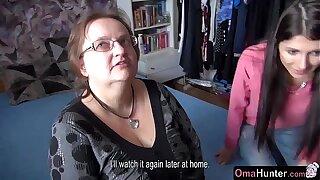 OmaHunter Teen girl licks chubby adult big tits