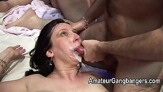 Mature fucked hard added to taking facial cum