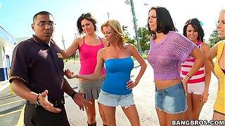 Dirty pornstar sex at bowling alley w/ Rachel Starr, Diamond Kitty, Alexis Fawx