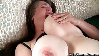 Dominate grandma has to close by be fond for of her throbbing hard clit