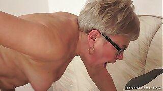 Granny Ursula Grande fucks a immensely younger cock