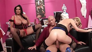 Big tidi Hot MILF Thots rides the sex shop owner´s obese dick be required of not paying