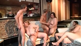 Party sex with leader huge tits bbw