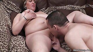 Big ex sucks and rides his cock