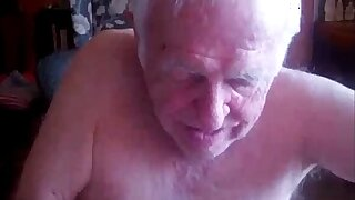 76yo Silverdaddy Sucking on Blether