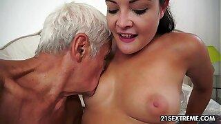 Teen cutie's kinky picnic forth a grandpa
