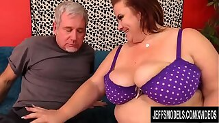 Busty Grown-up Plumper Lady Lynn Is Worshiped and Pummeled Overwrought a Grandpa