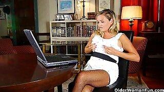 Mature women watch porn too