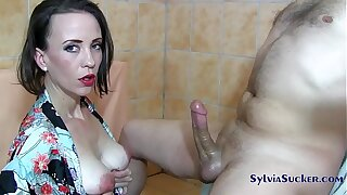 Sylvia Chrystall Regal Japanese Handjob with the addition of Tit Fuck