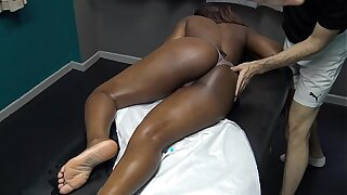 Sexy Black Wife Gets Full Piecing together Sensual Massage