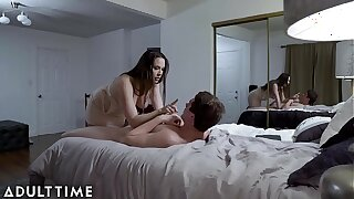 Pervert StepSon's Spycam Catches StepMom Going to bed his Whip FRIEND!!