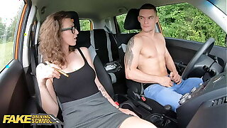 Fake Driving School MILF Emylia Argan fucks her student