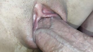 I derive pleasure my stepsister's little pussy at night