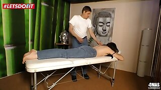 German Mature Wife gets Fucked apart from the Masseur