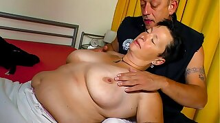 XXX OMAS - Beamy tits German chubby grown up gets screwed