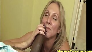 Leader tugging mature playing with a bbc pov